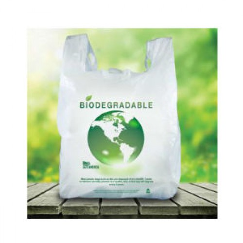 biodegradable plastic t shirt thank you bags