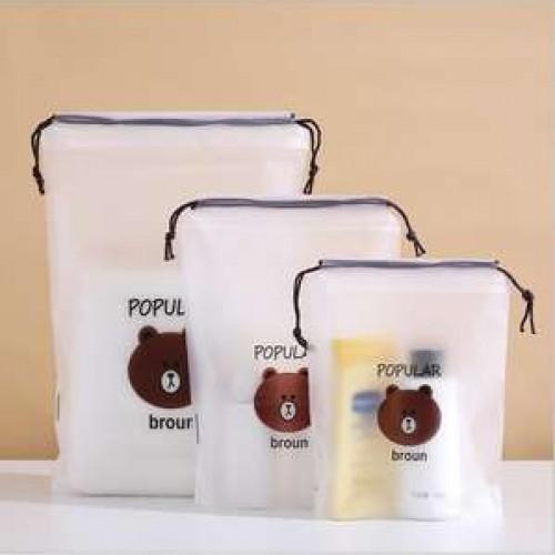 plastic drawstring christmas gift bags