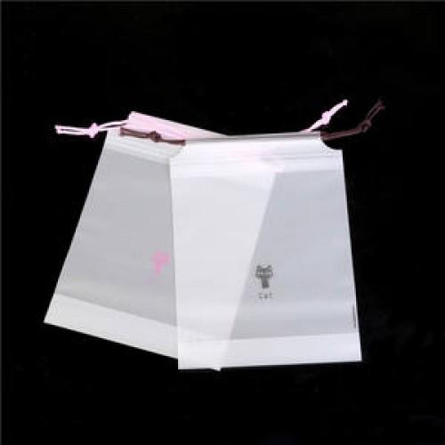 plastic drawstring bags with logo