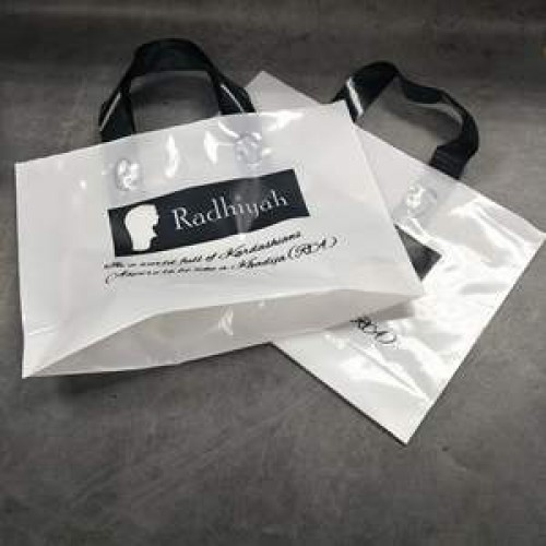 plastic christmas bags with handles