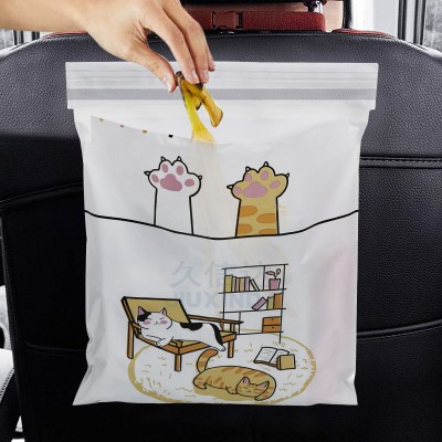 self adhesive garbage poly bag in the car on the seat trash plastic bag for car