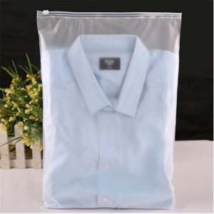 What material is generally used for clothing packaging bags?