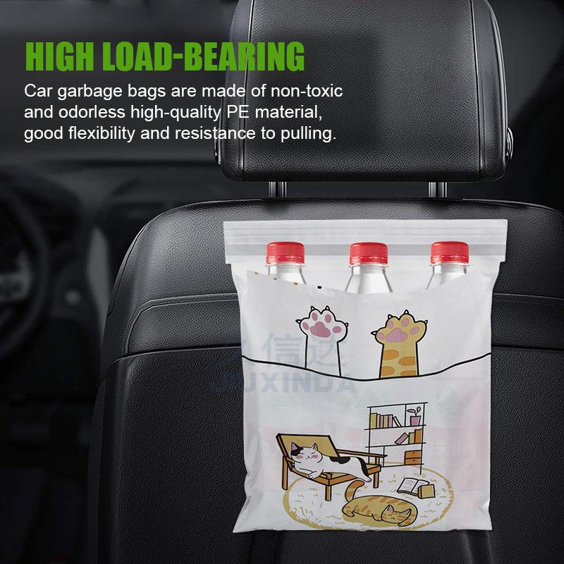 Custom Logo plastic bag disposable self adhesive Car Garbage Bag biodegradable trash bags for car