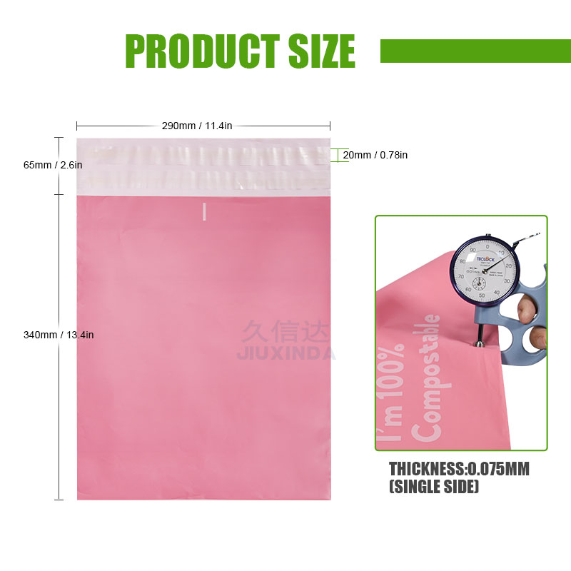 eco friendly Wholesale self adhesive sealing transparent poly mail packaging bag biodegradable mailing bags free shipping