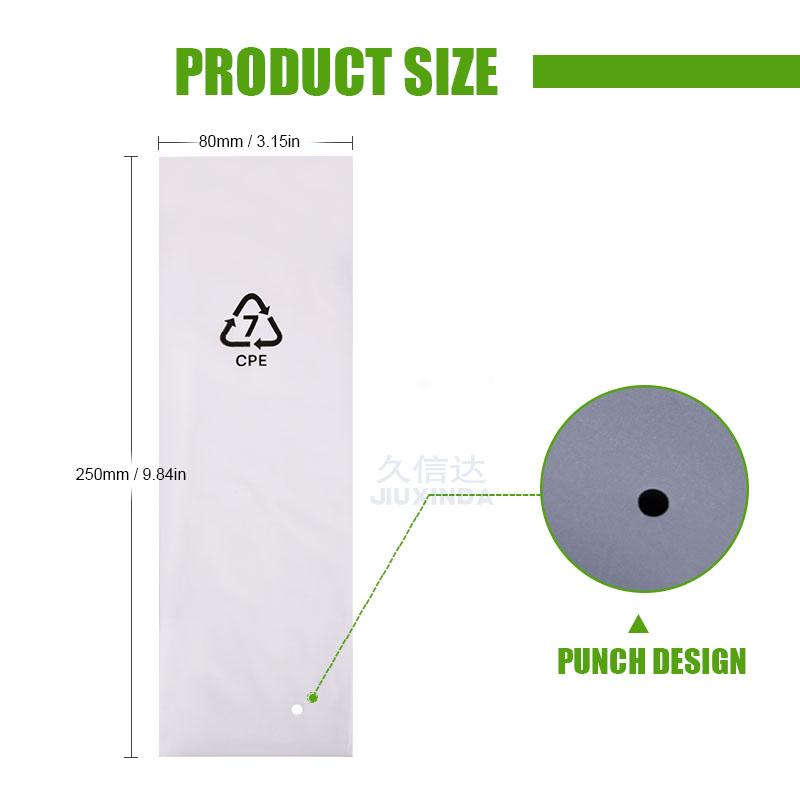 self adhesive seal cpe poly bag usb cable bag packaging free sample