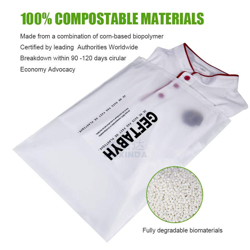 zipper clothing bags biodegradable clear poly bag